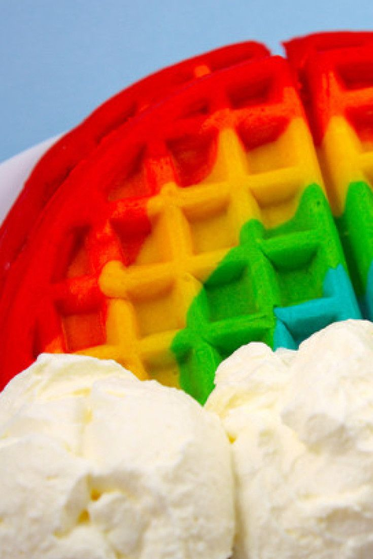 How To Make Rainbow Waffles, Because Life Is Too Short