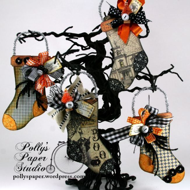 halloween stocking ornaments - Halloween Christmas Ornaments
