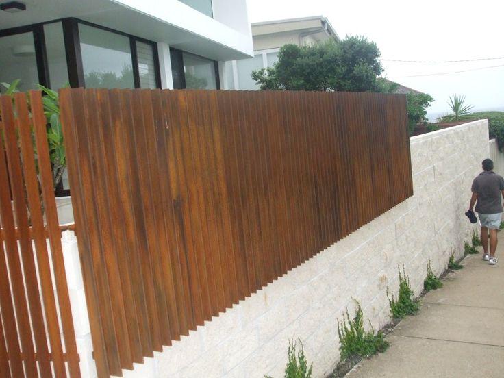 corten steel fence - Google Search