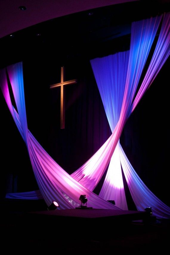 so want to hang white fabric instead of having white canvas backgrounds church set design ideaseaster stage - Church Stage Design Ideas