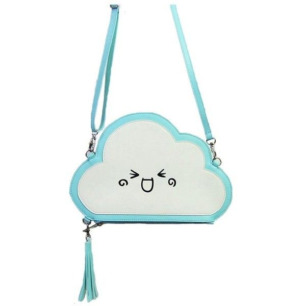 Jiaruo Small Tassels Eggs Clouds Ladies Leather Crossbody Shoulder Bag... ($10) ❤ liked on Polyvore featuring bags, handbags, shoulder bags, leather crossbody, cross-body handbag, leather shoulder handbags, purse crossbody and leather purses