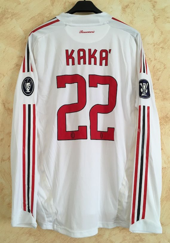 02f6e753b01 Away white 2008-09 Adidas BWIN n. 22 name  Kakà - issued for Europe League