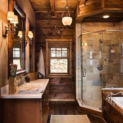 56 Best Images About Dream Home On Pinterest Log Cabin Living Stone Firepl