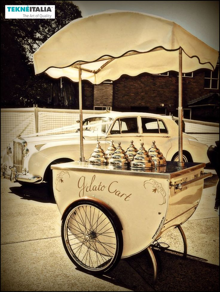 "@tekneitalia - Ice Cream Shop: ""Gelato Cart"" - by #tekneitalia made in italy www.tekneitalia.com - Sydney, Australia - Model: Katerina gelato cart"