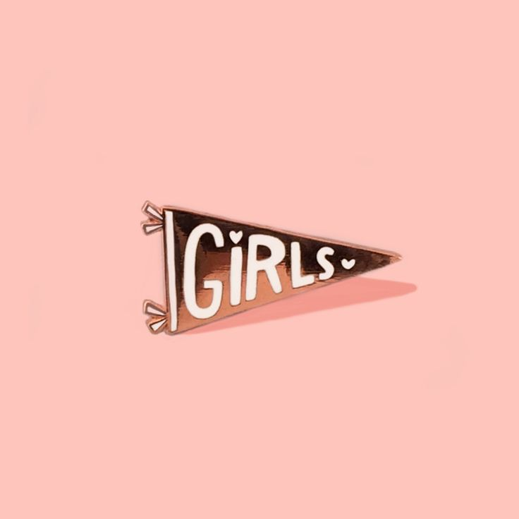 style: erase you LET'S HEAR IT FOR THE GIRLS! SHOW 'EM WHAT TEAM YOU'RE ON BY SNAGGING TUESDAY BASSEN'S ROSE GOLD PENNANT PIN AND PREPARE FOR VICTORY. BECAUSE THE GIRLS TEAM ALWAYS WINS. - Approximate