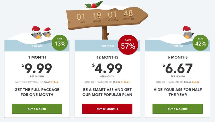 Only 01 DAYS Left!!! Hurry up.!!  HideMyAss Discount Up to 57% On their VPN packages for XMAS Special !!  http://www.bestvpnserver.com/hidemyass/