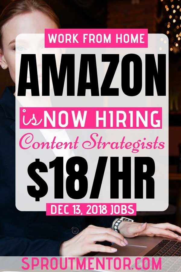 Legitimate Work From Home Jobs At Amazon (Hiring Now