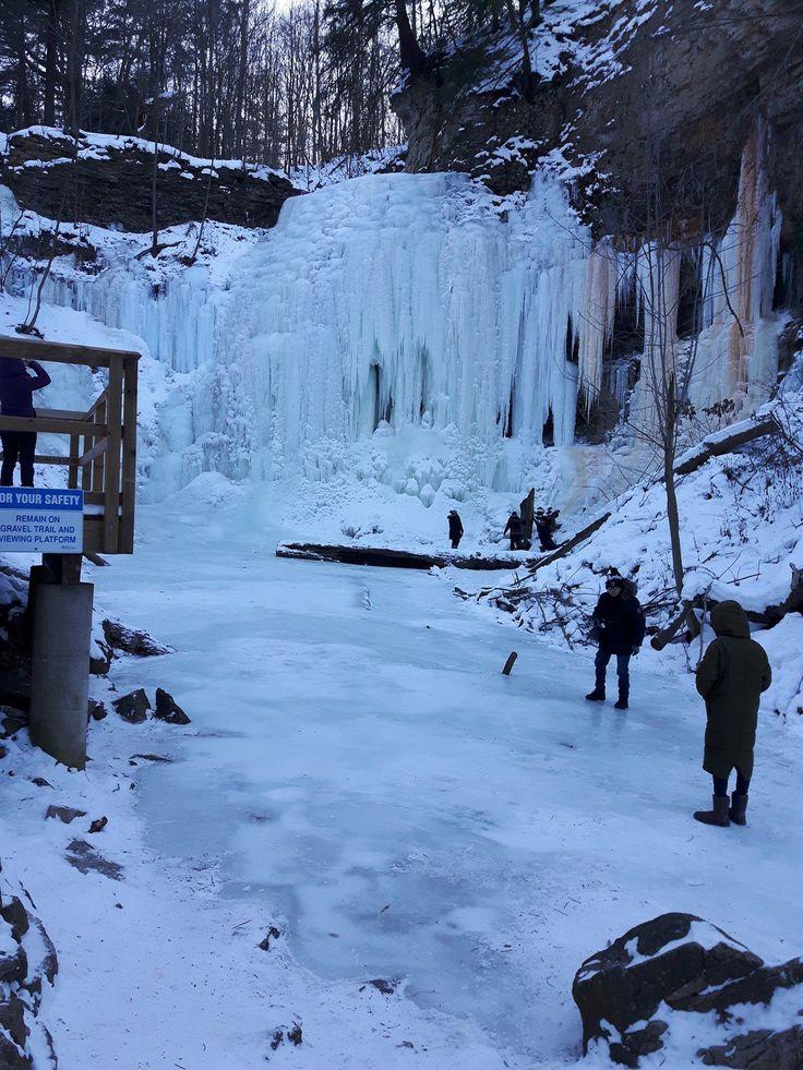 freezing Tiffany Falls, Hamilton