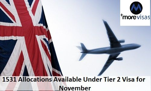 1531 Allocations Available under Tier 2 Visa for November. Read More... https://goo.gl/uoiTt3 #MoreVisas #UKImmigration #UKTier2Visa #Tier2Sponsorship #UKvisa https://www.morevisas.com/immigration-news-article/1531-allocations-available-under-tier-2-visa-for-november/5333/