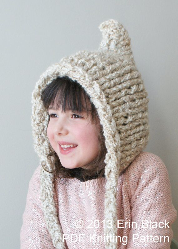 Knitting PATTERN  Chunky Pixie Hat in Toddler by ErinBlacksDesigns, $5.50