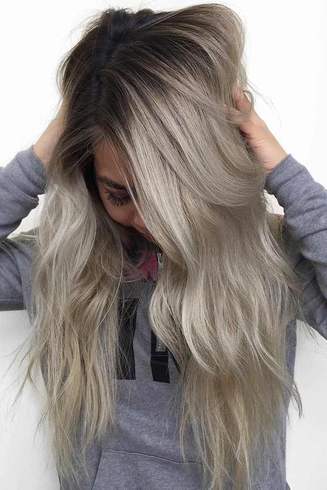 Trendy Hair Color Picture Description Ash blonde hair is quite popular these day…