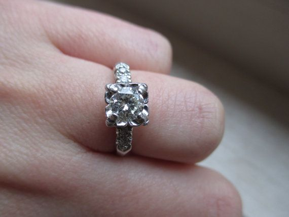 bridal ring sets final sale antique 5 half carat diamond solitaire by cooley10 50000
