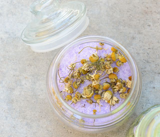 Easy DIY bath salts. This recipe for homemade bath salts is quick, cheap and would make a wonderful gift. Add essential oils or your favorite perfume.