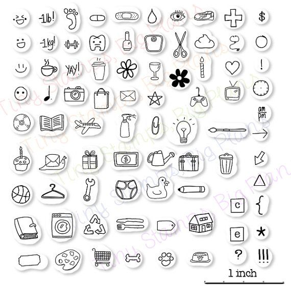Hey, I found this really awesome Etsy listing at https://www.etsy.com/listing/221678166/planner-icon-stamps-choose-your-10