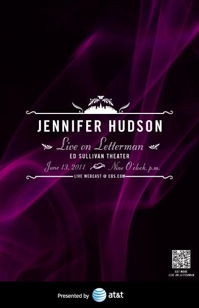 Jennifer Hudson, Live on Letterman Poster