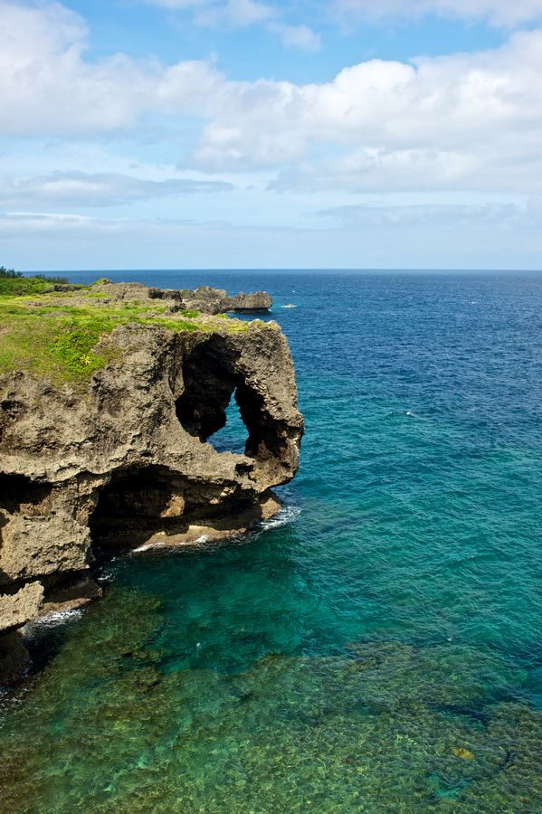 Okinawa, Japan. Wow! I know this place! Swam in this cave!