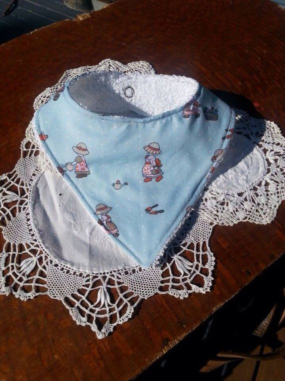 Bandana Bib Country Garden 012 Months by Pennylanecraft on Etsy, $9.50