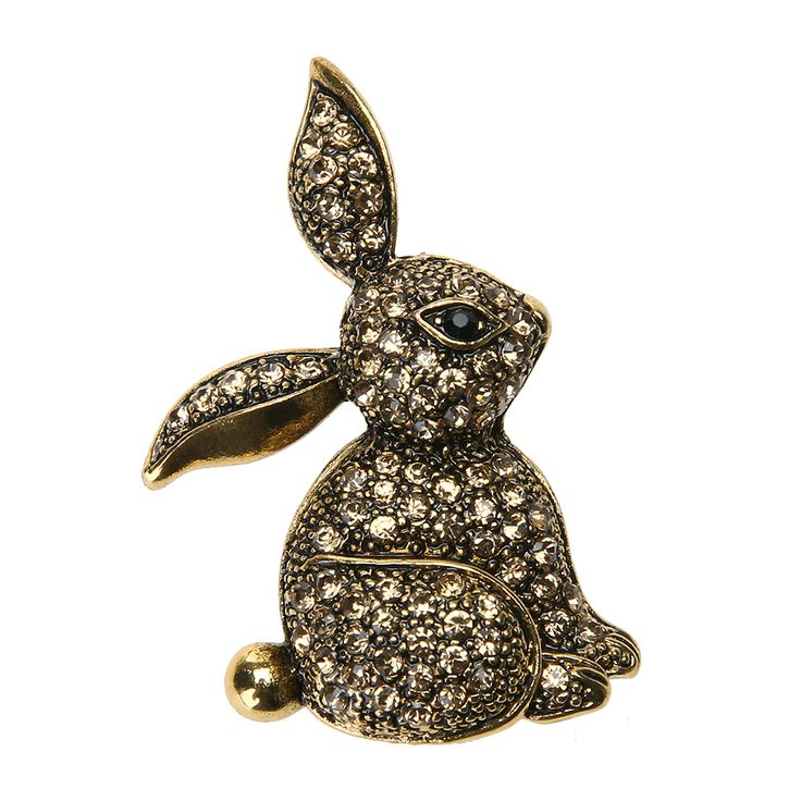 Retro Vintage Rabbit Bunny Brooch Pins for Women Steampunk Alloy Rhinestone 25*40mm Brooches 2017 #Affiliate