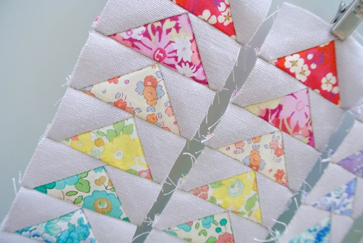 Liberty of London flying geese ..... Sew Sweet Violet