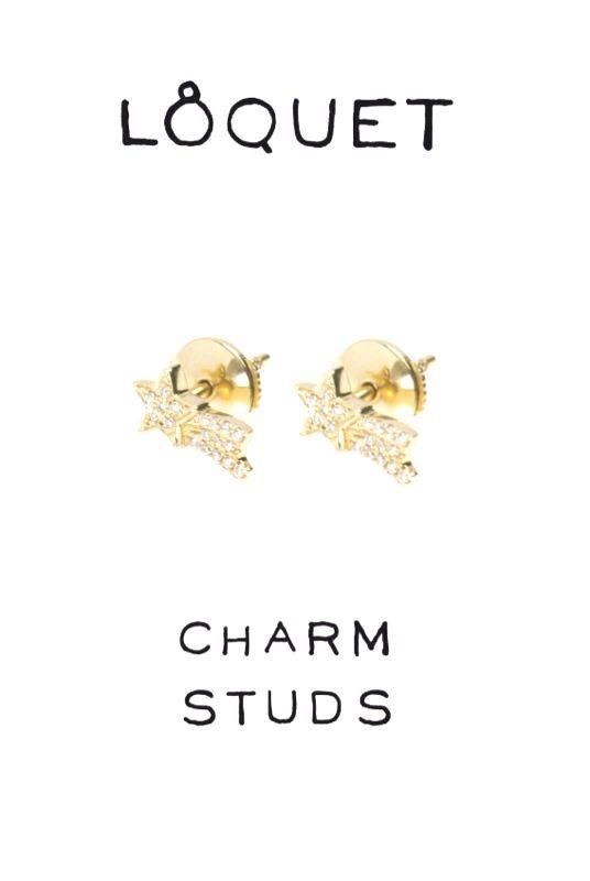 Diamond shooting stars stud earrings. #loquetlondon