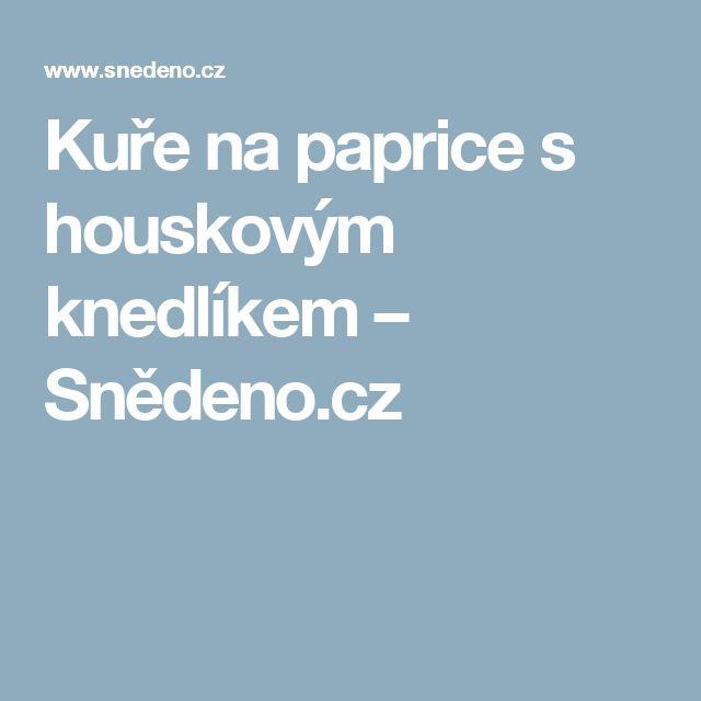 Kuře na paprice s houskovým knedlíkem – Snědeno.cz