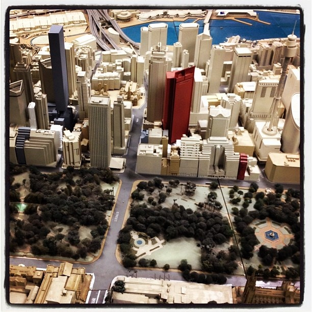 We love this full scale model of Sydney at Town Hall House...you can come visit anytime!