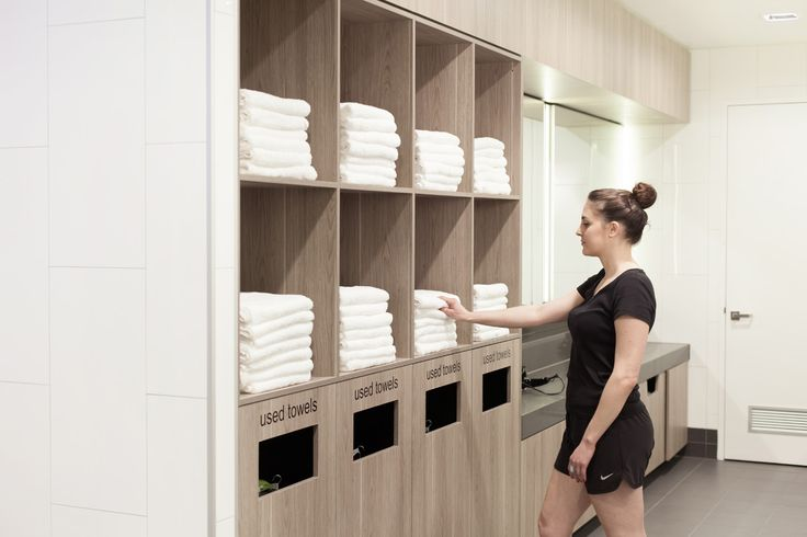 TOWEL STATION - Wet towels in lockers. No thanks! That's why towel services in end-of-trip facilities are a must-have #makecyclingeasy #cycling #endoftrip