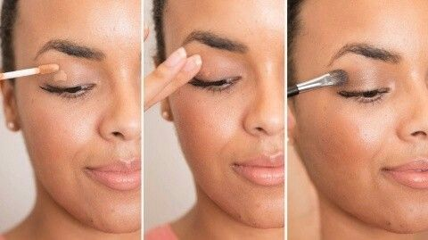 To prevent your eye shadow from falling off your lid and settling in the creases, prime your eyelids first with a dab of concealer.  If you can't justify spending extra on eye shadow primer, a dab of concealer works just as well.