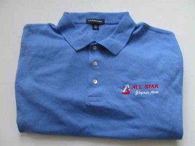 All Star Rods Short Sleeve Golf/ Polo Shirt-Size 2X -Light Blue-NEW-ON SALE