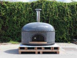 Vesuvio pizza oven smoke gray with black trim