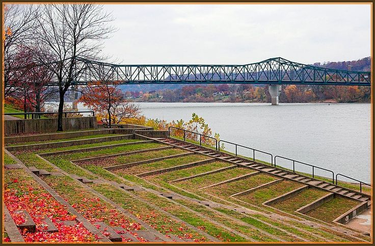 Riverside Park on Ohio River, Huntington, West Virginia, one of my favorite places