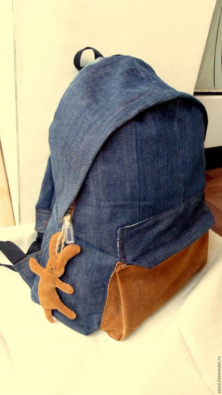 Джинсы превращаются... джинсы превращаются...в рюкзак! - Ярмарка Мастеров - ручная работа, handmade