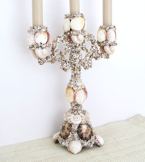 Diy Candelabra: 231 Best Seashell Chandeliers And Candelabras Images On