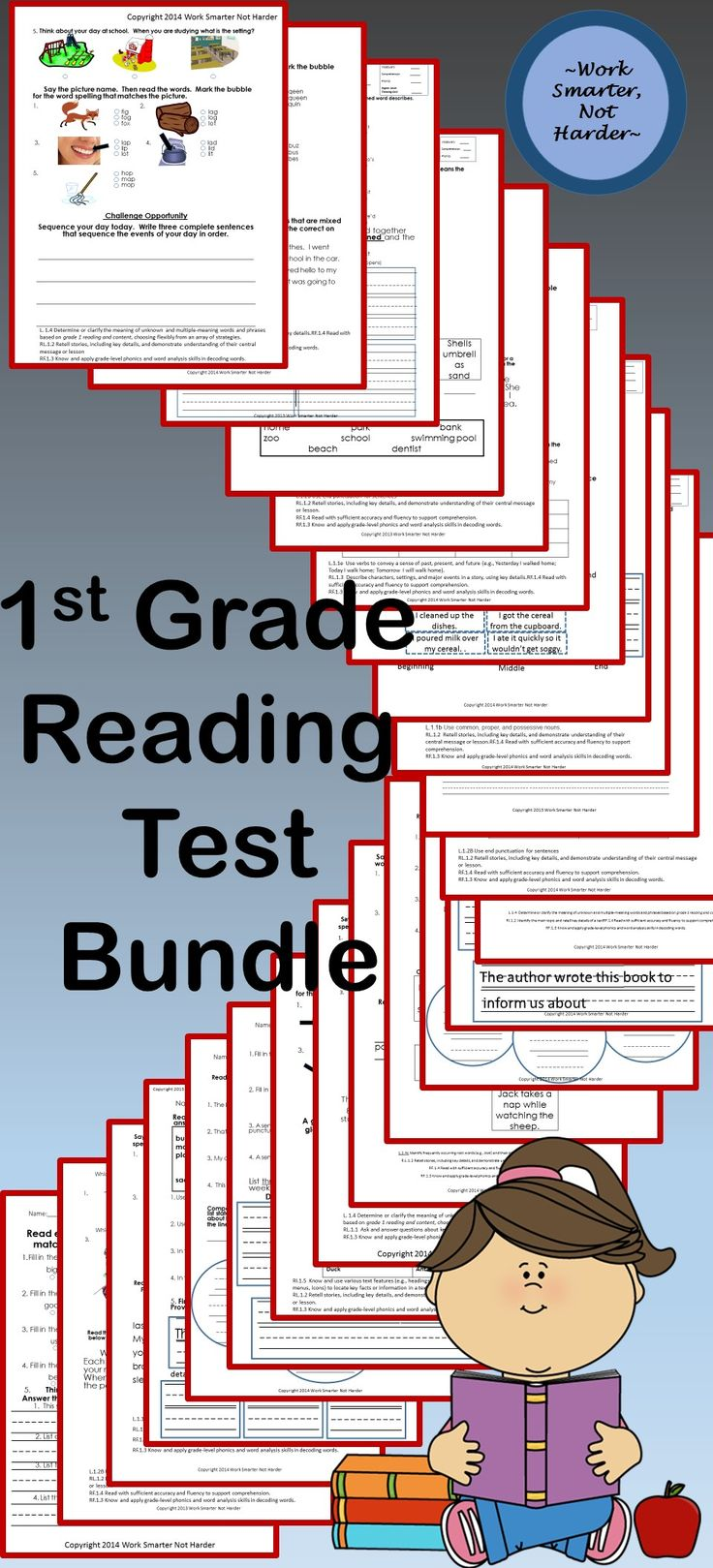 Uncategorized E Reading Worksheets 2259 best images about reading worksheets for struggling readers first grade common core test pack