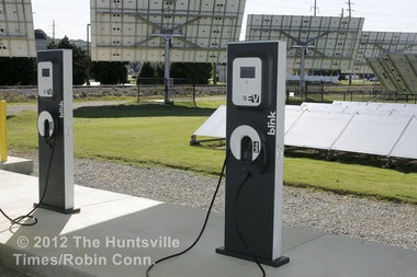 Local electric vehicle enthusiasts celebrate National Plug In Day #blink charging station #nissan #leaf #chevy #volt #charge