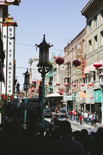 San Fransisco, Chinatown. Did not shop here, but i had dinner at  one of the restaurants. it was so good!!!