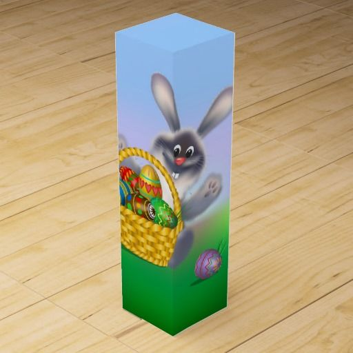 27 best easter wine boxes images on pinterest wine gift boxes easter bunny wine box negle Images