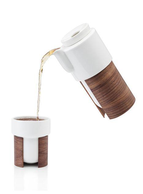 Wood Grain Teapot