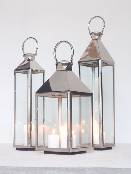 Stainless Steel Lanterns | Large Lanterns | Stainless Candle Lanterns