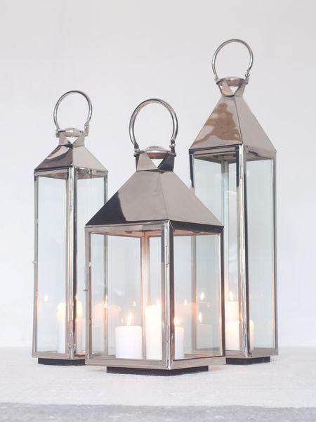 Metal Lantern | Large Metal Lantern | Floor Lantern | Stainless Steel Lantern | Square Lantern | Mini Candle Lantern - Nordic House