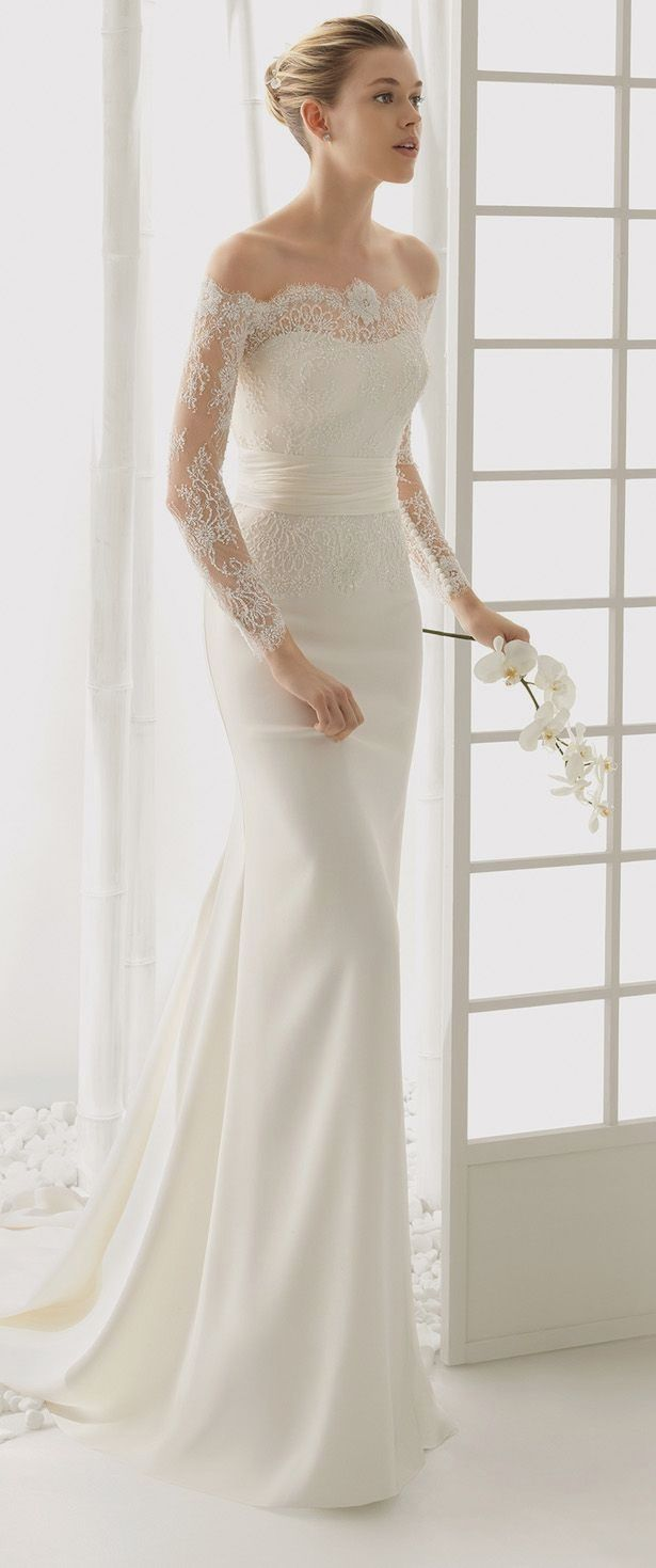 Elegant wedding dress. Ignore the bridegroom, for the present time