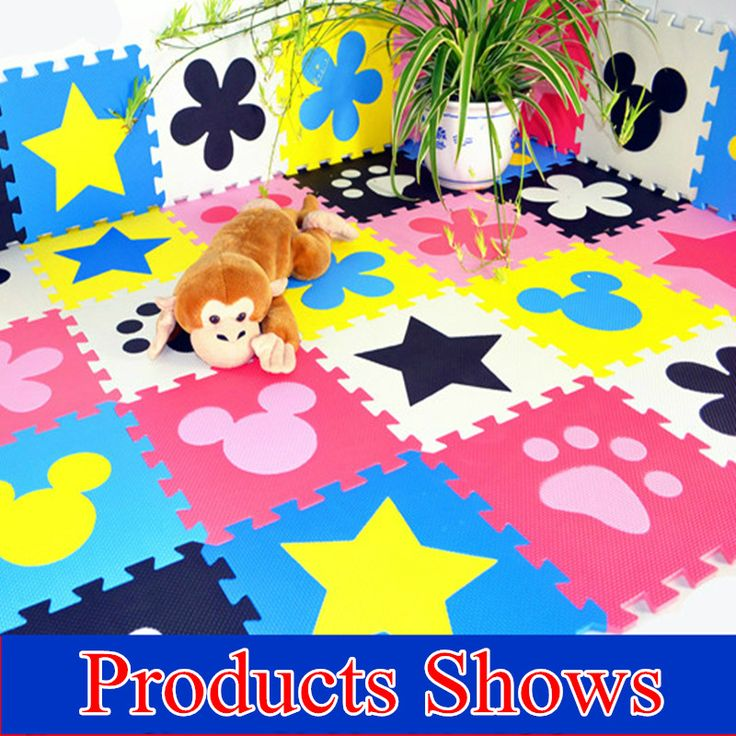 Promotie 10 stks/partij multicolor speelkleed kind EVA puzzel vloermat baby eva foam patchwork spel matten TYD001