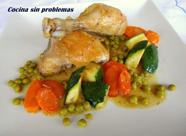 Cocina  Sin Problemas: Pollo guisado con verduras