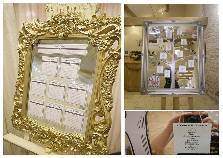 Wedding Mirror Table Plans