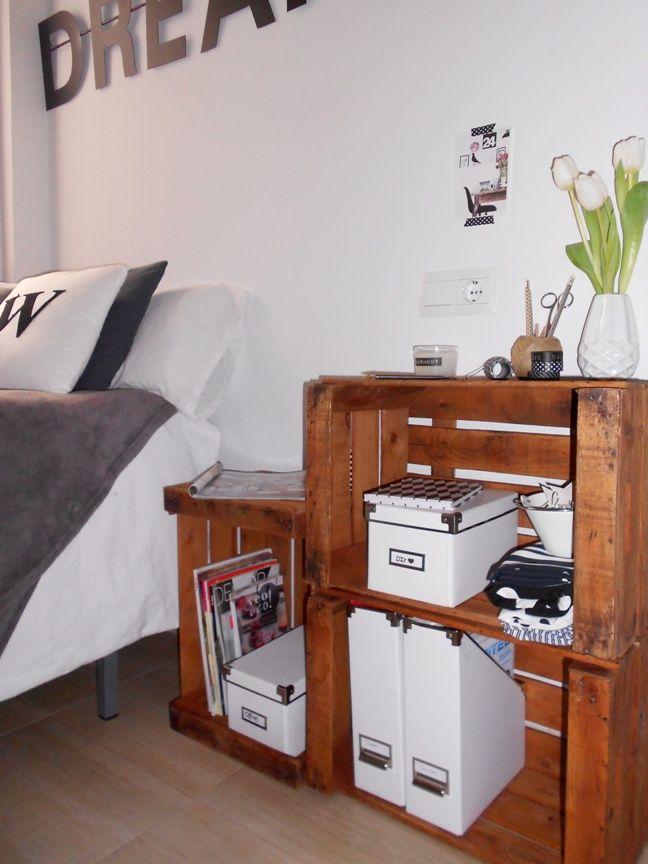 Mi estanter a con cajas de fruta la garbatella mi casa - Cajas para estanterias ...