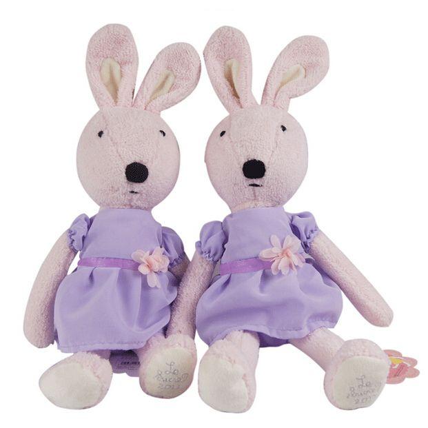 45 см ле сукре фиолетовый одежда розовый кролик куклы плюшевые игрушки дети любят милые игрушки высокое качество лучшая цена бесплатная доставка NT016B