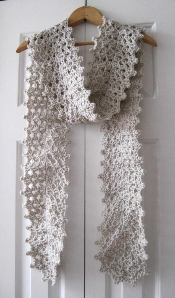 Crochet Lace Scarf | She's Got the Notion