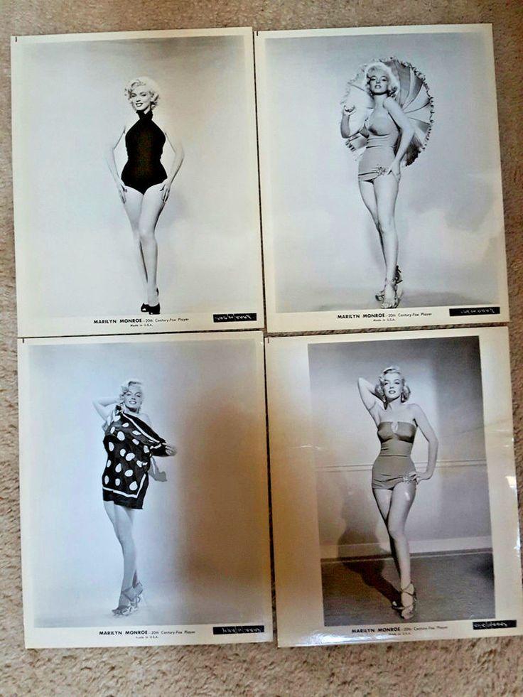 Vintage Marilyn Monroe 20th CENTURY FOX PLAYER 8 X10 PUBLICITY SHOTS Set 0f 4