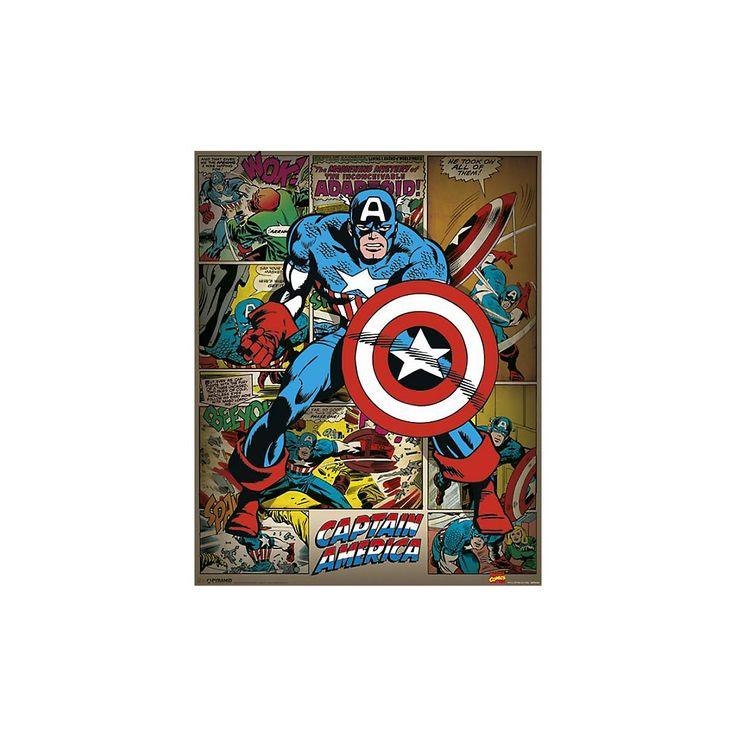 """Marvel Poster, Hoog, 40 x 50 cm """"Captain America"""""""