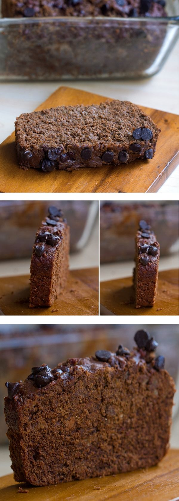 Thick, rich, peanut buttery, fudgy, hot-from-the-oven chocolate peanut butter banana bread with no refined sugar in the recipe! Need I say more? Full recipe link: http://chocolatecoveredkatie.com/2015/07/08/chocolate-peanut-butter-banana-bread/